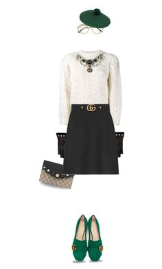 """""""Gucci Skirt (outfit-only)"""" by fashionlibra84 ❤ liked on Polyvore featuring Gucci"""