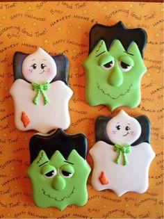 Frankenstein cookies / ghost cookies