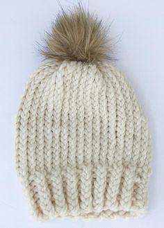 Women Hat cable Knit Beanie Ski Cap knitted Bobble pom pom Hat plum,grey,cream