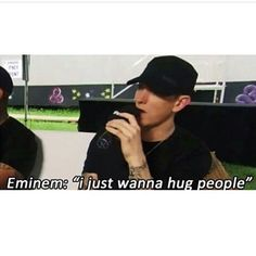 Eminem hug all stans first then non-stans
