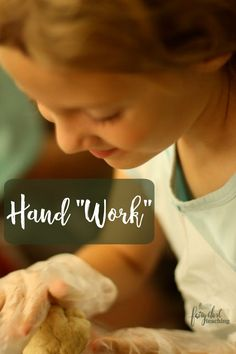 "When a child exercises muscles in the hand,  she/he is actually forming the brain. Let's take a look at Hand ""work"" - Fairy Dust Teaching"