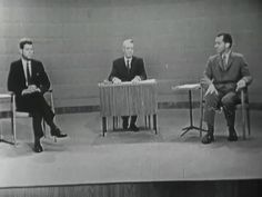 The 1st Televised Kennedy-Nixon Debate  On September 26, 1960 Democratic candidate Senator John F. Kennedy and Republican candidate Vice President Richard Nixon participated in the first of four televised debates.  Americans for the first time could tune in and watch presidential debates on television, or listen on the radio.