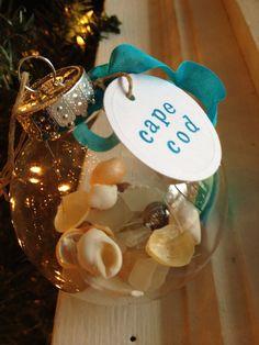 Cape Cod beach Christmas Ornament