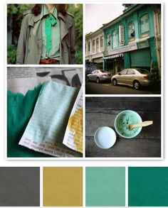 aqua green, grey, and a mustardy yellow. via Creature Comforts. mustard yellow and teals lately palette Colour Schemes, Color Combos, Color Patterns, Color Verde Aqua, Palette Deco, Green Palette, Color Palate, Creature Comforts, Colour Board