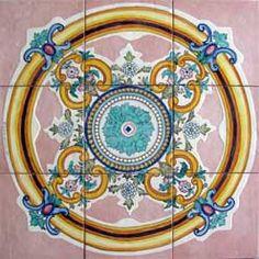 panel of stoneware decorated Vietri