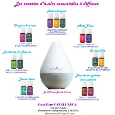 My recipes of Young Living essential oils to diffuse essential oils . Natural Essential Oils, Essential Oil Diffuser, Natural Oils, Young Living Oils, Young Living Essential Oils, Progessence Plus Young Living, Organization Bullet Journal, Diffuser Blends, Body Care