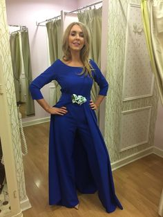 About Me: This stunning cobalt blue jumpsuit has a fabulous cape to the back from the waist to give it the effect of a maxi. Sizing: True to size Care: Hand wa Occasion Wear, Special Occasion Dresses, Estilo Real, Blue Jumpsuits, Race Day, Fashion Boutique, Party Dress, Legs, Cobalt Blue