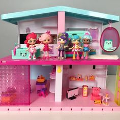 Shopkins Happy Places are miniature plastic furniture and accessories with cute pet faces on them, similar to Re-Ment toys. The Grand Mansion is a huge dollhouse with 7 rooms you can decorate any way you want!