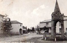 Queen's Monument, North Curry, Somerset, c1909. Some of my ancestors were from North Curry - if you're researching the Denman, Broom or Baskett families, do get in touch! esjones <at> btopenworld.com