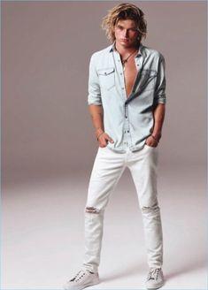 Jordan Barrett Rocks Denim for Mavi Spring Campaign Pretty Men, Gorgeous Men, Hot Men Bodies, Jordan Barrett, Winter Outfits Men, Blonde Guys, Australian Models, Gentleman Style, Good Looking Men