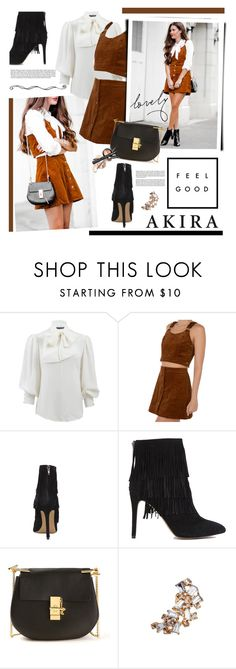 """""""Feel Good with Shopakira.com"""" by hamaly ❤ liked on Polyvore featuring Alexander McQueen, Akira, Steve Madden, Chloé, overalls, shopakira and winterstyle"""