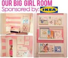Ikea Big Girl Room- from the BusyBudgetingMama
