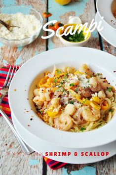 An amazing scampi sauce boasting both shrimp and scallop as well as sweet mini pepper for additional flavor. It's perfect to serve over pasta! Shrimp Recipes, Pasta Recipes, Crockpot Recipes, Dinner Recipes, Cooking Recipes, Healthy Recipes, Kitchen Recipes, Dinner Ideas, Shrimp Dishes