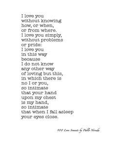 100 love sonets