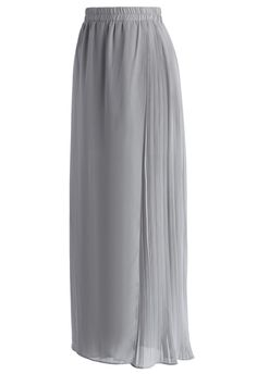 These wide-leg pants give you plenty of reasons to swoon!  From their asymmetric flap design to the pleated panel on the other side and billowing legs, this vintage-inspired pair is is a total treasure!  - Cropped length, wide-leg - Elastic waistband - Lined - 100% Polyester - Machine washable  Size(cm) Length  Waist XS/S           98        66-72      M/L            100      70-76 Size(inch) Length  Waist XS/S            38.5     26-28 M/L             39.5    27.5-30  * X...