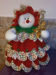 Luigui Snowman Crafts, Christmas Projects, Christmas Holidays, Diy And Crafts, Christmas Crafts, Holiday Door Decorations, Christmas Centerpieces, Holiday Decor, Fabric Christmas Ornaments