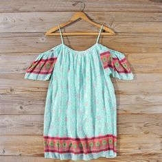 The Honey & Thistle Dress.. Sweet off the shoulder details adorn this casual boho dress.  Shop our full collection of affordable dresses:  www.spool72.com