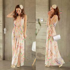 f21536e3750 Women s Metallic Petite Heidi Long Dress In Silk Chiffon