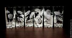 Купить Подарочный набор стаканов морская фауна, гравировка в интернет магазине на Ярмарке Мастеров