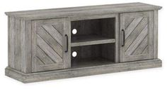 With a charming rustic design, the Belcrest TV Stand from Bell'O offers storage for all your entertainment equipment and accommodates a flat screen TV. Integrated Cable Management System hides and manages unsightly wires and cables. Cable Management System, Loft Furniture, Rustic Design, Pine, Entertaining, Tv, Storage, Home Decor, Pine Tree