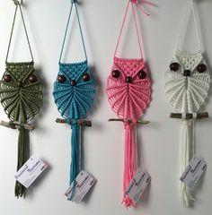 Macrame owls wall hanging