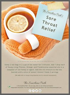 Young Living Essential Oils: Sore Throat