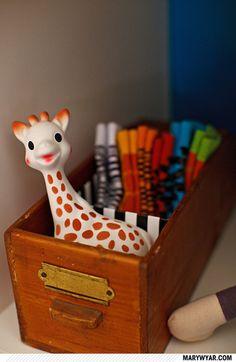 Vintage drawer as storage bin. Vintage Drawers, Old Drawers, First Birthday Parties, First Birthdays, Vintage Nursery, Nursery Design, Little People, Home Organization, Apartment Therapy