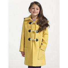 Buy John Lewis Girl Hooded Duffle Coat, Red Online at johnlewis ...