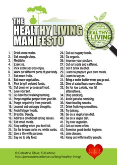 The Healthy Living Manifesto