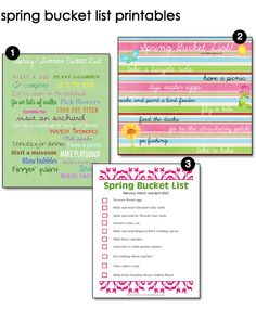 Free Spring Bucket List Printables