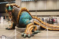 Monster Hunter convention / event display. Giant or life-size inflatable