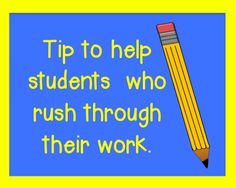 TEST PREP TIP: Tip to help students who rush through their work plus FREE The Lightning Thief packet.