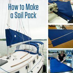 Learn How to Make a Sail Pack using Sunbrella Marine Grade Fabric.