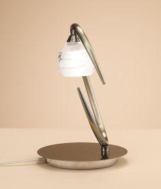 Sobremesa cuero LOOP 1 luz - La Casa de la Lámpara