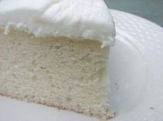 The Perfect Homemade White Cake White cakes Cake and Homemade