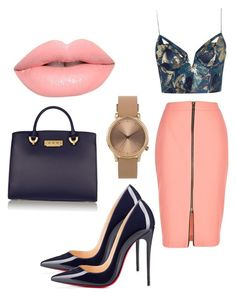"""Untitled #40"" by elisaquaashien ❤ liked on Polyvore featuring River Island, Zimmermann, Christian Louboutin, ZAC Zac Posen, Lime Crime and Topshop"