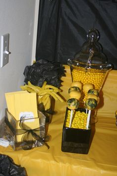 "Photo 1 of 8: Black and Yellow / Graduation/End of School ""Nicole's Graduation Party"" 