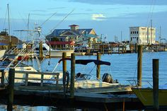 The Southport, NC waterfront -- cute little town for a day trip adventure on the ferry.