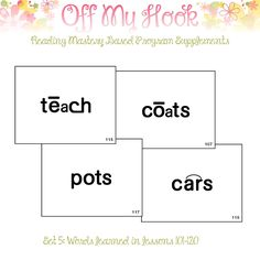 Reading Mastery Sight Words Set 5Education Teacher by OffMyHook