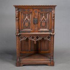 Gothic Revival Oak Cabinet