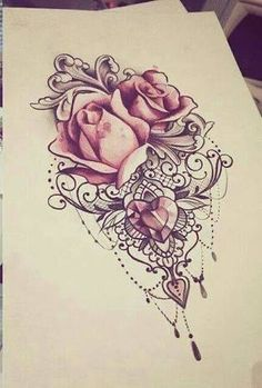 Pictures found for the query mandala rose tattoo - # .- Znalezione obrazy dla zapytania mandala rose tattoo – Pictures found for the query mandala rose tattoo – - Jewel Tattoo, Lace Tattoo, Diy Tattoo, Tattoo Hip, Trendy Tattoos, Tattoos For Women, Tattoos For Guys, Cool Tattoos, Tatoos