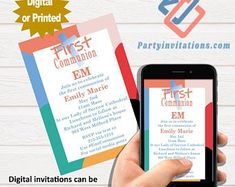 The perfect first communion party invitations for the by partyinvitationscom Online Invitations, Unique Invitations, Digital Invitations, Teacher Retirement Parties, Retirement Party Invitations, First Communion Party, First Communion Invitations, Our Lady Of Sorrows, Perfect Party