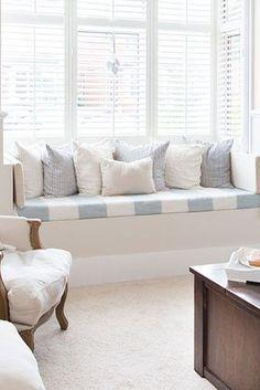 27 Inspirational Ideas for Cozy Window Seat Corner Bench Seating, Storage Bench Seating, Booth Seating, Dining Room Bench, Floor Seating, Table Seating, Dining Table Chairs, Living Room Chairs, Room Interior