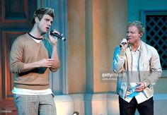 Nick Carter (L) and Brian Littrel (R) of Backstreet Boys perform at a 'Special Fan Event' promoting their new album 'Unbreakable' at Venusfort on October 23, 2007, in Tokyo, Japan. The album will be released on October 24 in Japan. They are scheduled to perform at concerts in February next year in Tokyo.