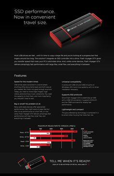 Top Pocket Drives: ••Corsair Flash Voyager GTX•• full SSD disguised as a pocketable flash drive ; ) • Computex 2014-06-02 out July • 450MB/sec read & 350MB/sec write • USB 3.0 + 2 • OSX /  Win / Linux • 5yr warranty! • 128GB $120 / 256GB $200 • http://www.corsair.com/en-us/landing/flash-voyager-gtx