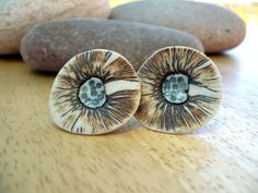 Abstract Flower Porcelain EarringsSterling by BlueMagpieDesign, $24.85
