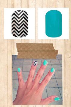 Get this look- black and white chevron with turqoise solid. Seriously so easy! Just heat and apply!
