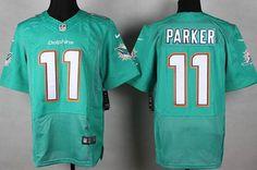 Nike Miami Dolphins #11 DeVante Parker 2013 Green Elite Jersey