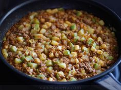 Calabacines con carne / Courgettes with meat