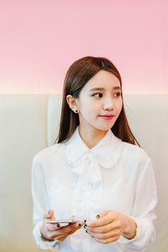 #mixxmix Frill Trimmed Blouse (BWMS) A frill trimmed blouse like this remains to be a staple in every woman's wardrobe. #mxm #hideandseek #has #365basic #bauhaus #99bunny#koreanfashionstyle #girlsfashion #lovelywoman #kstyle #koreangirls #streetfashion #twinlook #dailyoutfit #styling